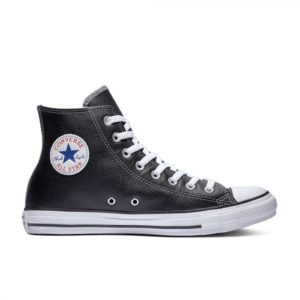 Черно белые кеды Converse Chuck Tailor All Star Leather High