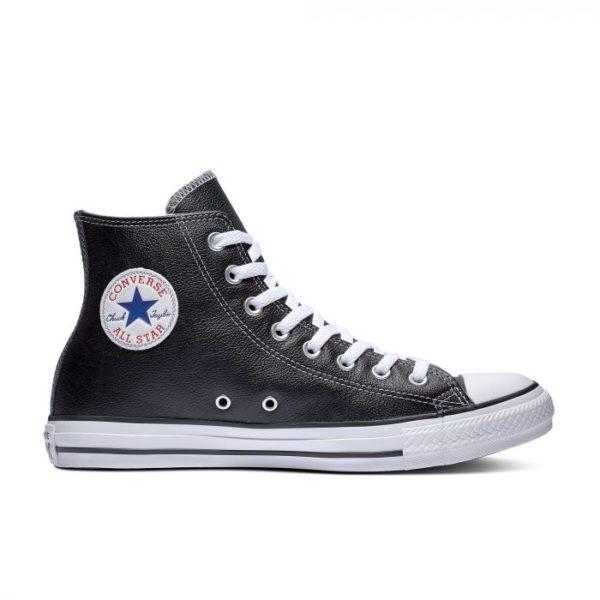 Черно белые кеды Converse Chuck Tailor All Star Leather High