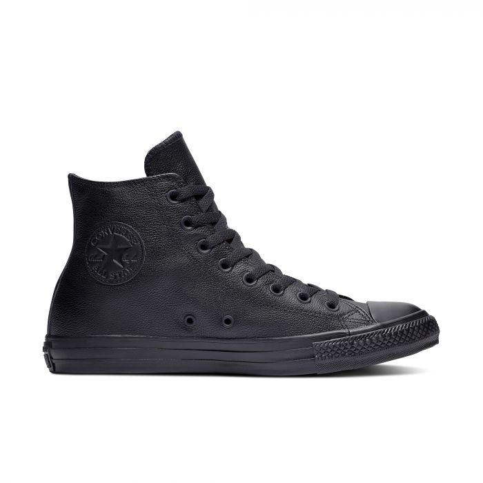 Черные высокие кеды Converse Chuck Tailor All Star Mono Leather High