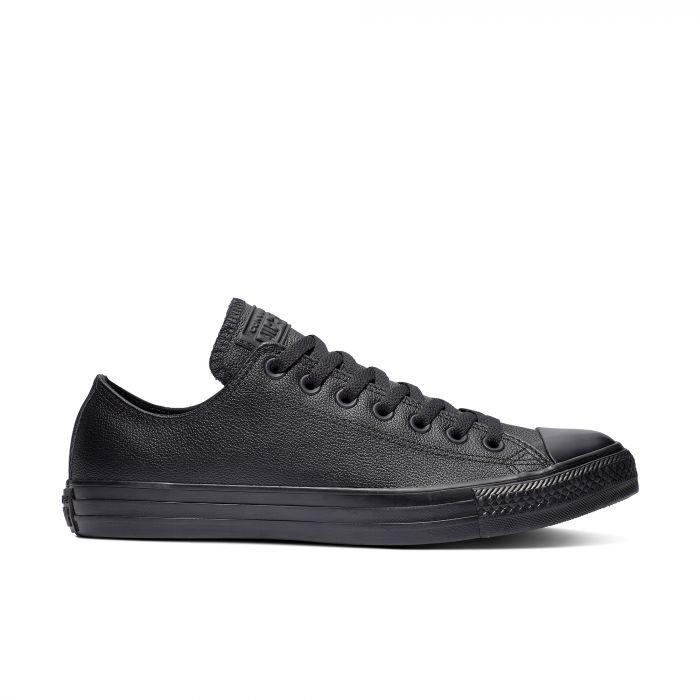 Черные кожаные кеды Converse Chuck Tailor All Star Mono Leather Ox