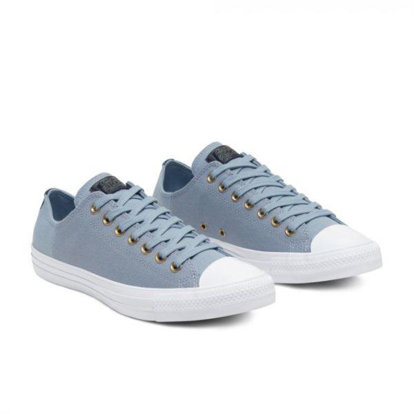 Низкие голубые кеды Converse