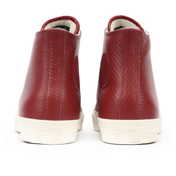 Бордовые кожаные кеды Converse Chuck Tailor All Star II Leather