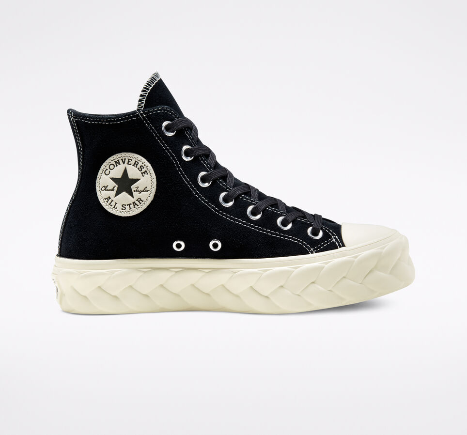 Кожаные кеды Converse на платформе 568687
