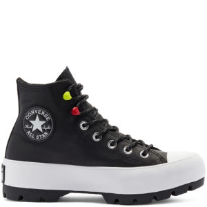 Черные Зимние Converse на платформе Chuck Tailor All Star Lugged Winter