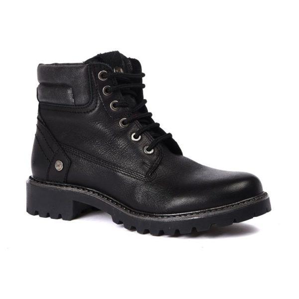 Зимние женские ботинки Wrangler Creek Leather Fur S Black
