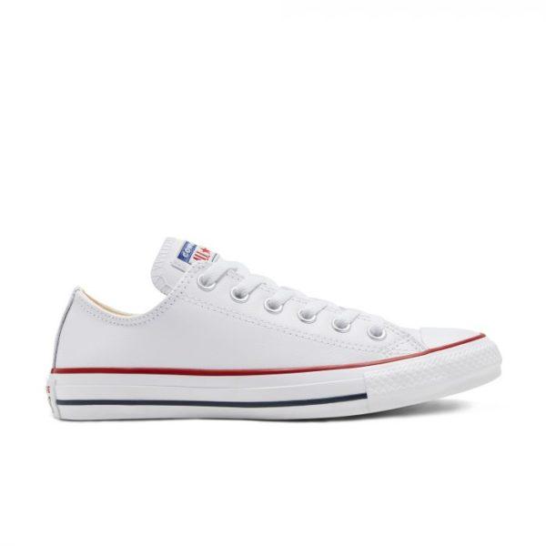 Белые кожаные кеды Converse 132173