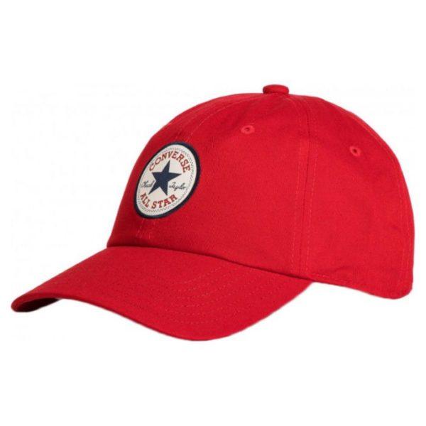 красная бейсболка Converse