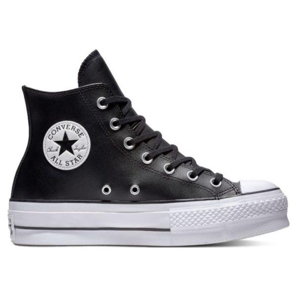 Черно-белые Converse на платформе